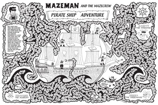 Mazeman's Pirate Ship Adventure Maze Poster