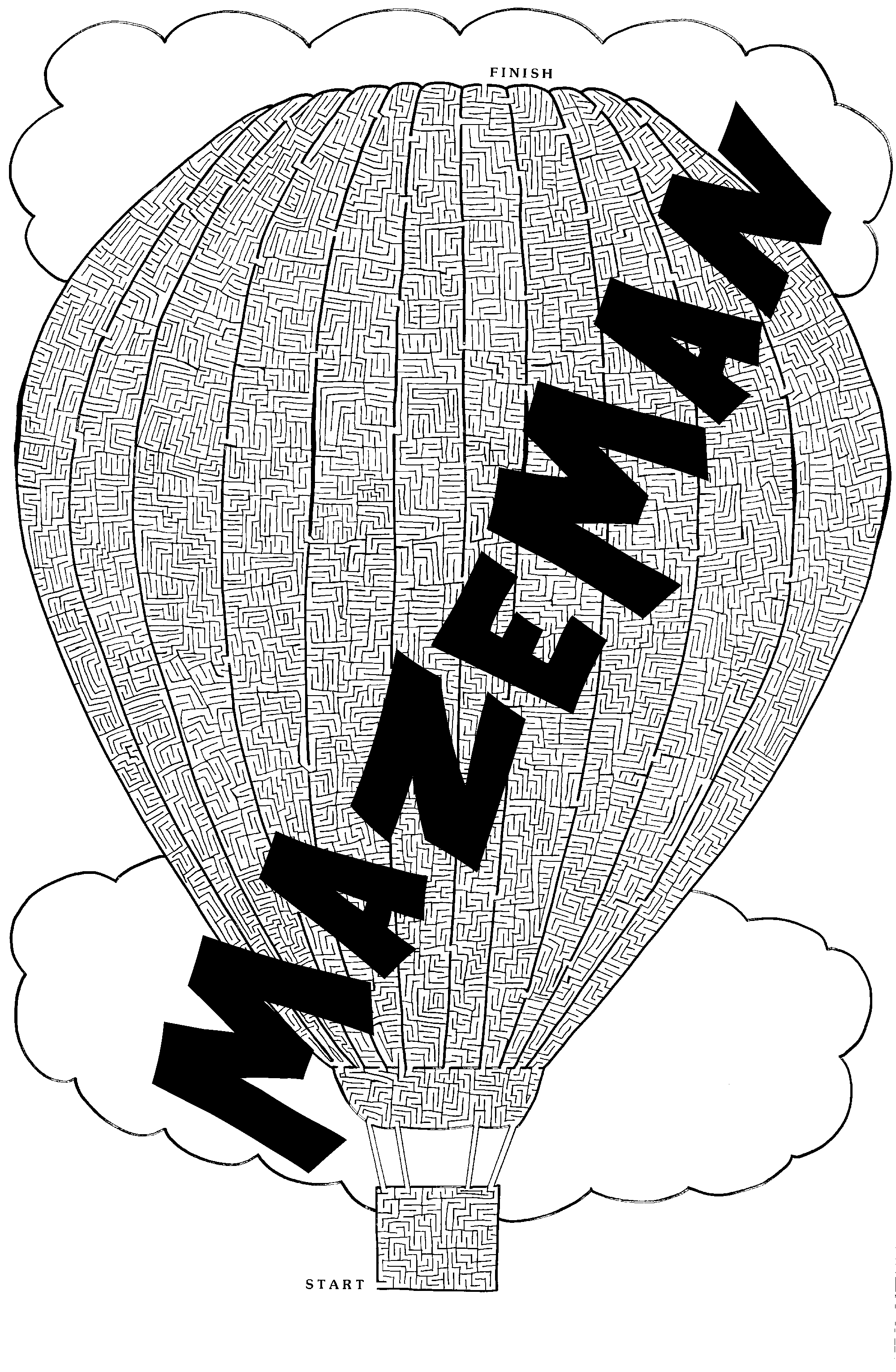 Giant Hot Air Balloon Maze Poster