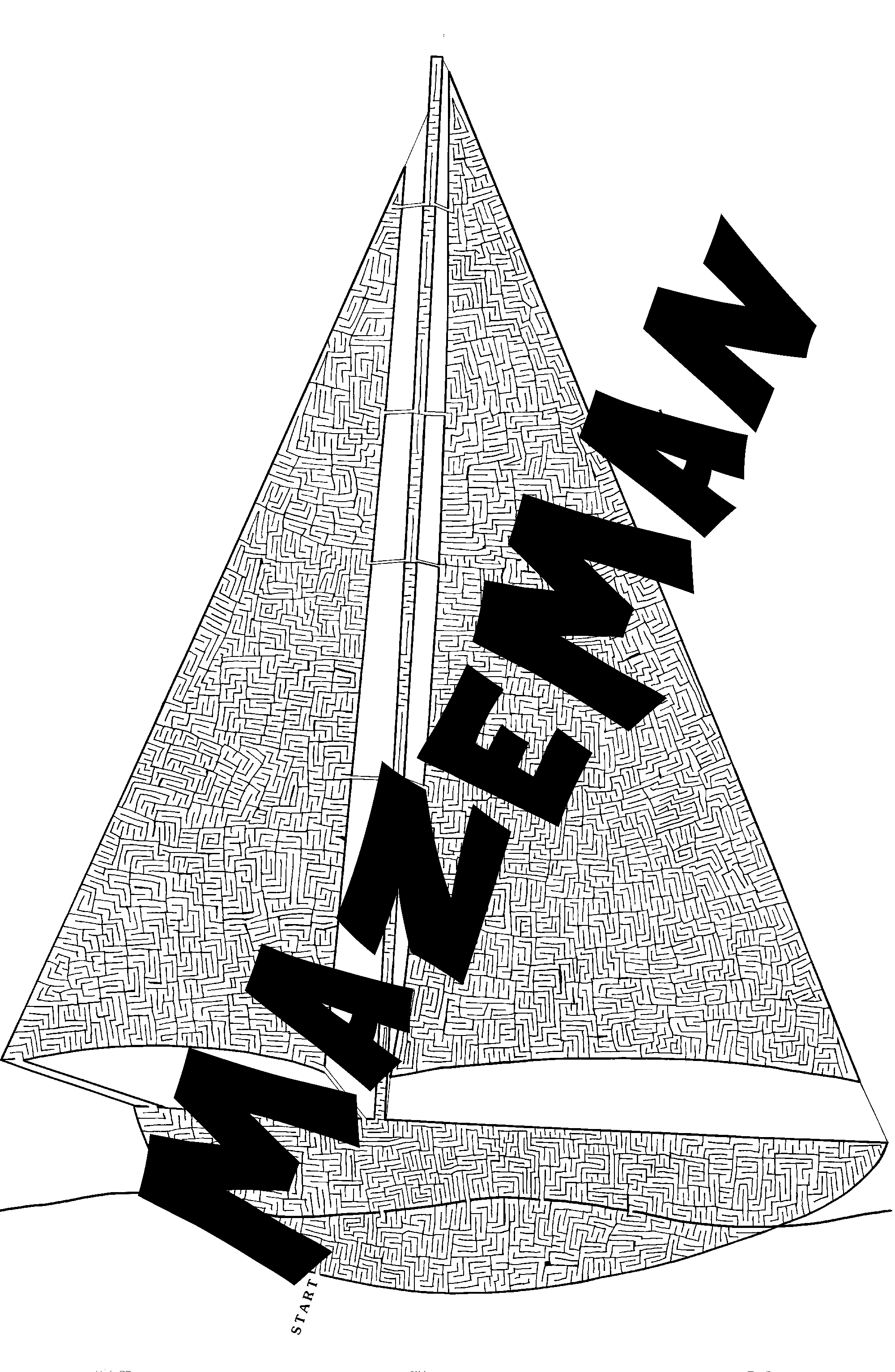 Giant Sail Boat Maze Poster