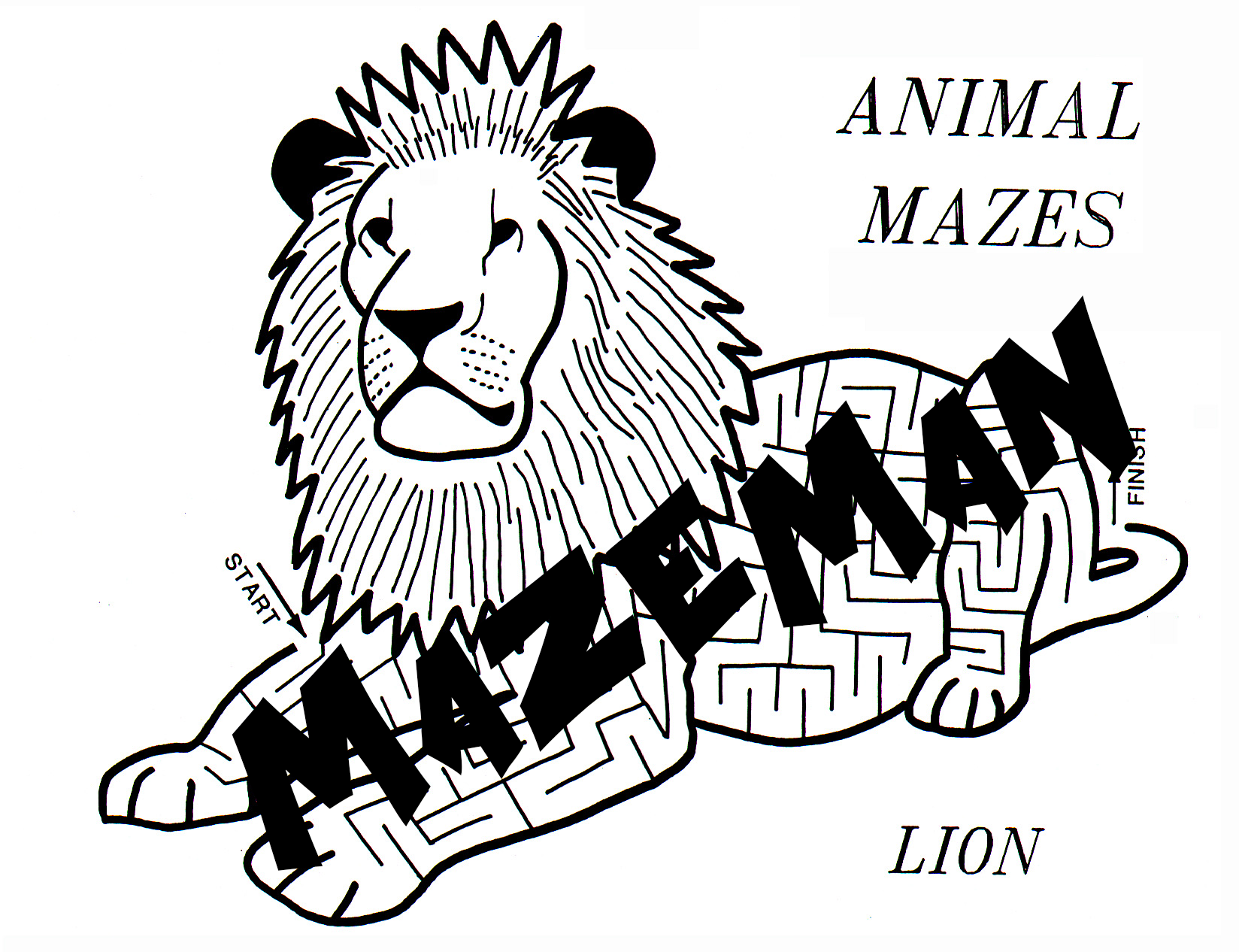 Animal Maze Booklet