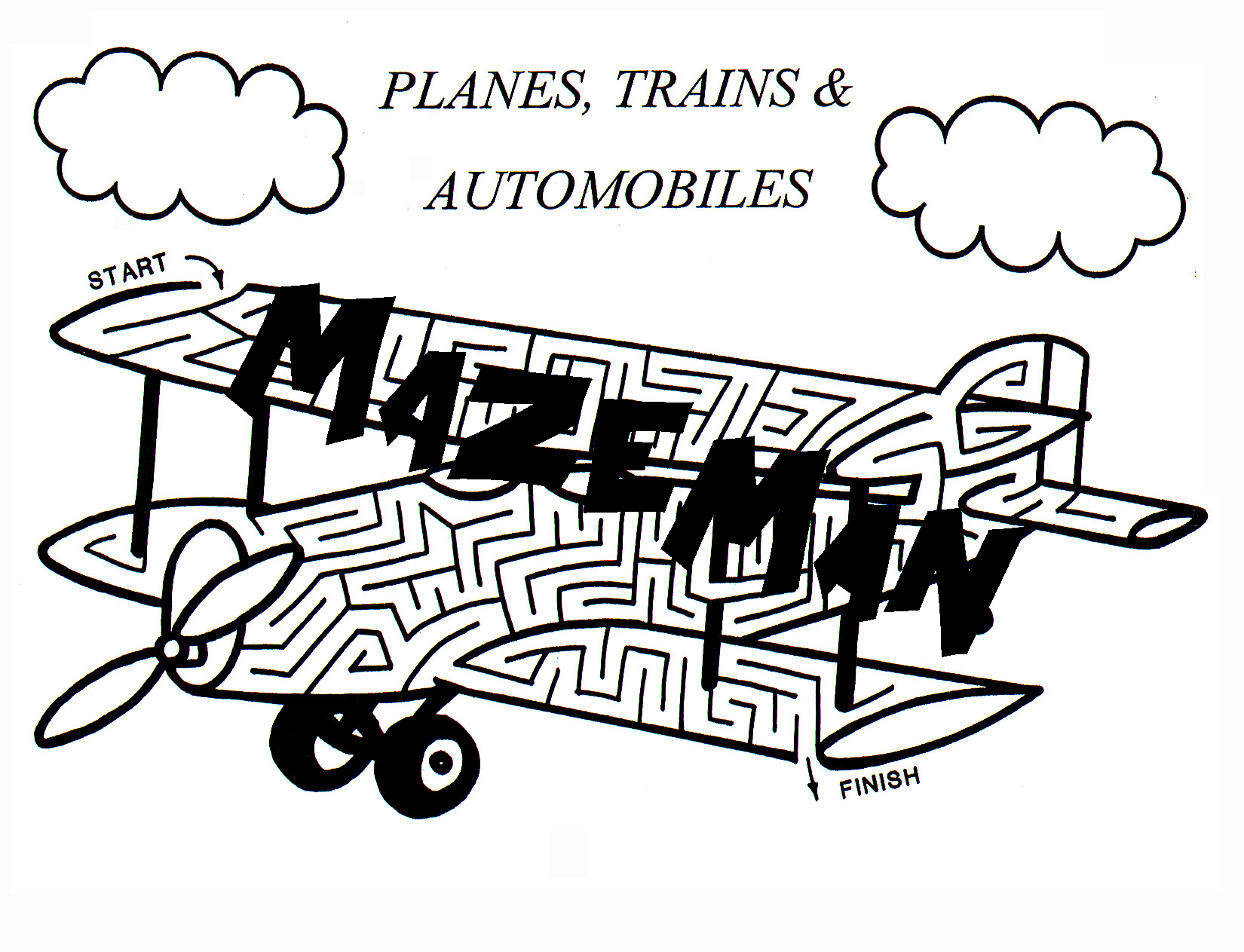 Planes, Trains And Automobiles Maze Booklet