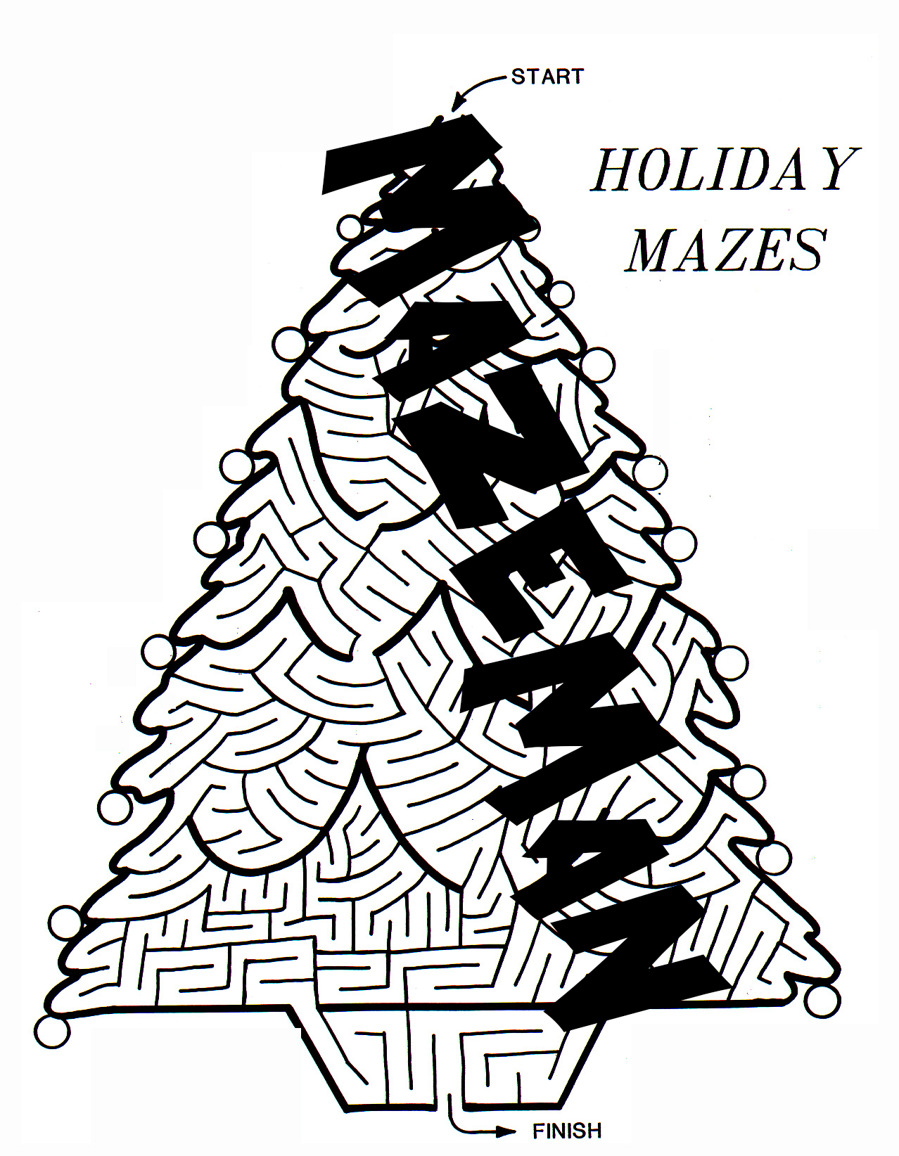Holiday Maze Booklet