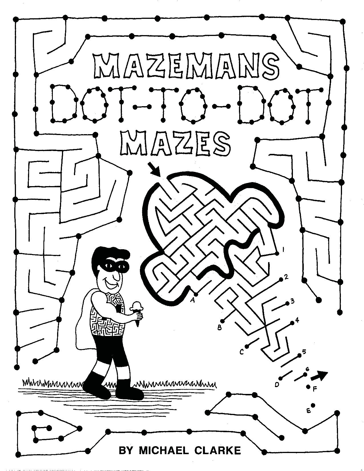 Mazeman's Dot-To-Dot Maze Booklet